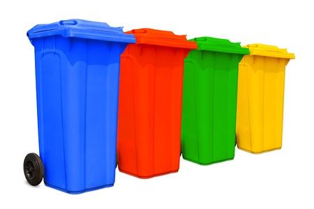 Duże kolorowe kosze kosze na śmieci z kolekcji koła Zdjęcie Seryjne - 13964424