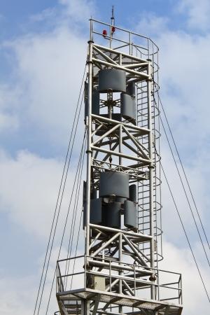 Vertical axis design wind turbine against cloudy sky, Thailand photo