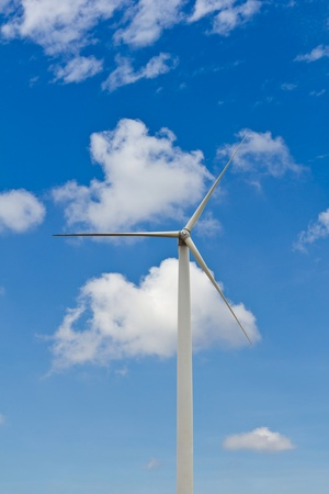 Wind turbine against blue sky, environment friendly energy, Thailand Stock Photo - 14090341