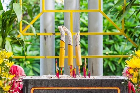 bewonderen: Joss sticks, gemeenschappelijke ding gebruikt om god in het boeddhisme te bewonderen