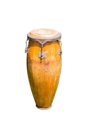 music instruments: Conga drum, isolated on white background