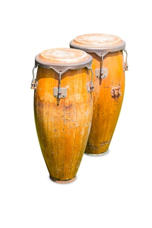 Set of congas, isolated on white background photo