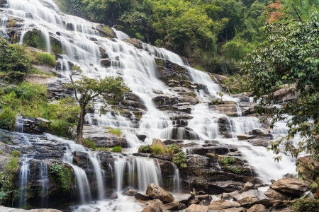 Mae Ya waterfall in Doi Inthanon national park, Chiang Mai, Thailand Stock Photo - 17192543