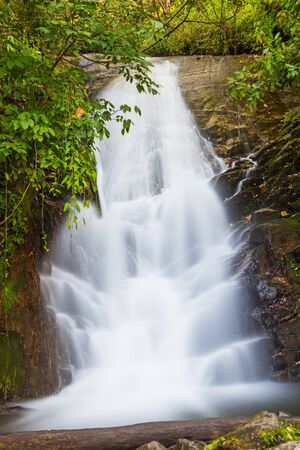 Part of Siribhume waterfall in Doi Inthanon national park, Chiang Mai, Thailand photo