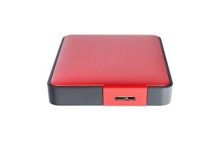 external hard disk drive: 2 5 inch  notebook size  external hard disk drive, red color Stock Photo