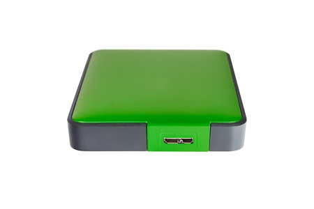 2 5 inch  notebook size  external hard disk drive, green color photo