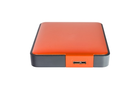 2 5 inch  notebook size  external hard disk drive, orange color photo