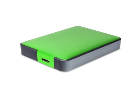2 5 inch  notebook size  external hard disk drive with usb 3 0 connector, green color photo