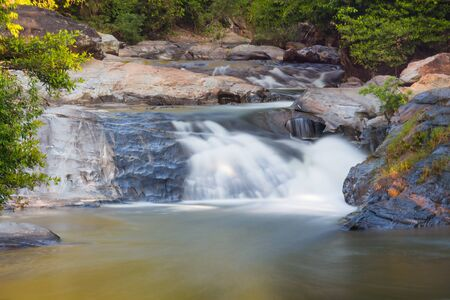 Part of Mae-klang waterfall in Doi Inthanon national park, Chiang Mai, Thailand photo