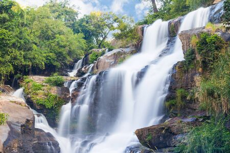 Mae-klang waterfall in Doi Inthanon national park, Chiang Mai, Thailand photo