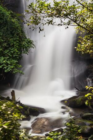 Sirithan waterfall in Doi Inthanon national park, Chiang Mai, Thailand photo