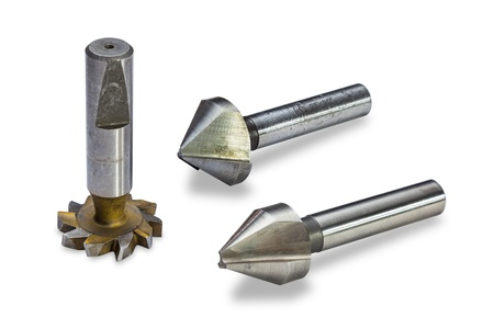Milling cutters, isolated on white background, with clipping path photo