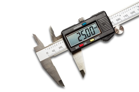 Digital vernier calipers, isolated on white background with clipping path Stock Photo - 19091947