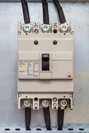 three phase: Three phase circuit breaker in control cubicle, use to protect the circuit from over current
