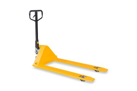 Hand pallet truck isolated on white background with clipping path photo
