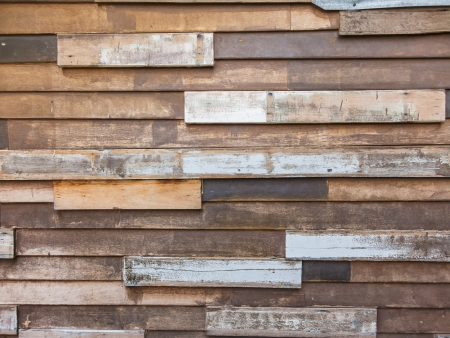 untidy: Old style untidy wooden wall, for background Stock Photo