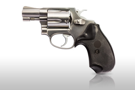 caliber:  38 inch caliber revolver handgun Stock Photo