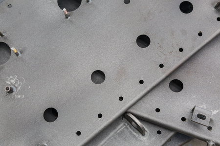 steelworks: Industrial background of sandblasting surface of steelworks Stock Photo