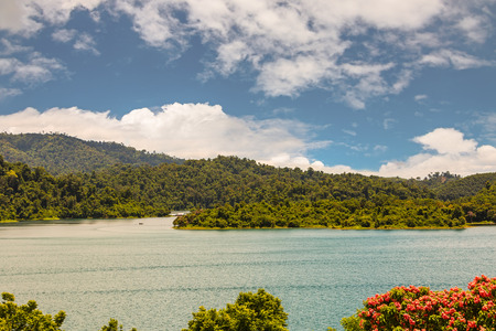 surat: View of Cheow Lan Ratchaprapa reservoir in Surat Thani province, Thailand Stock Photo