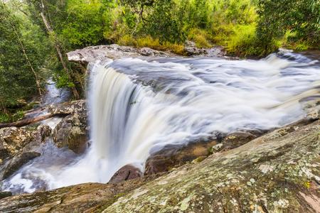 loei: Penpobmai waterfall just after raining in Phu Kradueng National Park, Loei province, Thailand