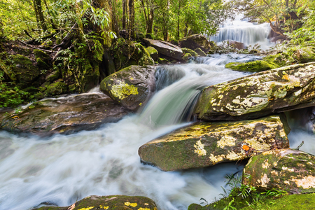 phon: Phon Phop waterfall just after raining in Phu Kradueng National Park, Loei province, Thailand Stock Photo