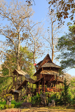 lodging: Lodging treehouse at Mae Chaem, Chiang Mai province, Thailand