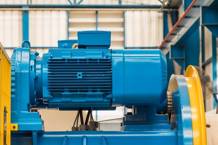 flange: Flange type three phase electric motor installed on the machine