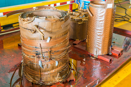 Damage paper insulated rectangular wire round winding (coil) of oil immersed transformer