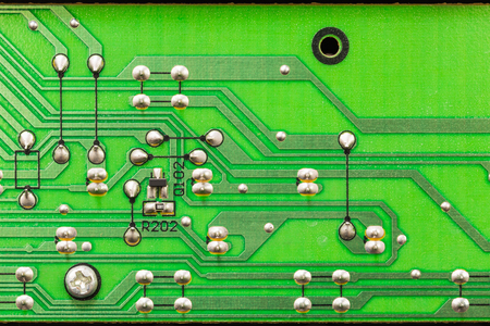 Surface mount device (SMD) electronic components on printed circuit board (pcb)
