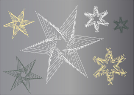 Different shaped stars which are also as vector file available. Stock Vector - 6090540