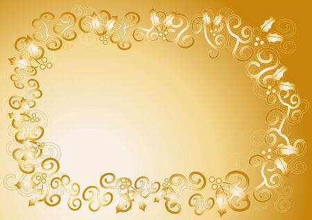 grading: Frame with Christmas symbols which is also as vector file available. Size and colors can be changed.