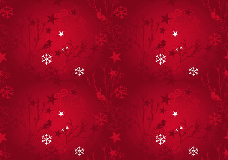Christmas background in red grunge design. Also as vector file available. Size and color can be changed. Vector