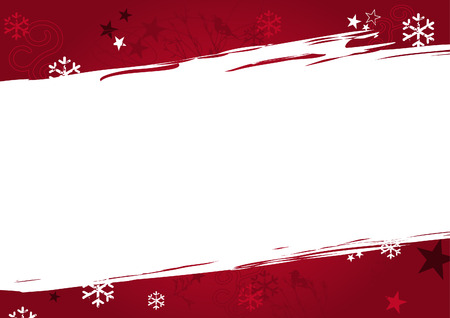 Christmas background in red grunge design. Also as vector file available. Size and color can be changed. Illustration