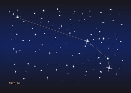 Illustration showing the aries constellation Vector