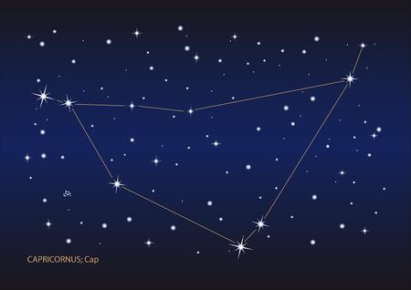 capricornus: Illustration showing the capricornus constellation