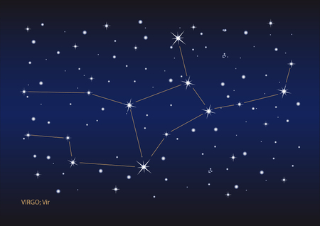 Illustration showing the virgo constellation Stock Vector - 6506424