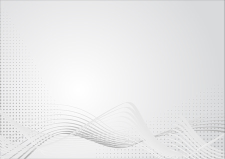 Abstract graphic in light grey colors with curves and raster. Suitable as background for business presentations.
