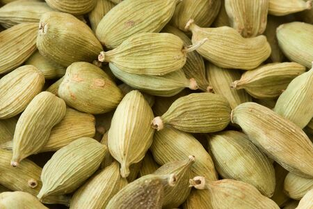 cardamum: Full frame image of cardamom which is also suitable as background image. Stock Photo