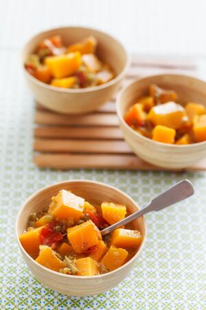 Caribean vegetable curry with pumpkin. photo