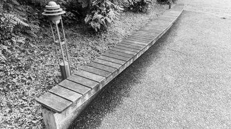 Long Bench Monochrome Photography