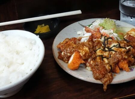 Tonkatsu teishoku Stock Photo