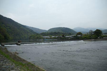 Arashiyama katsuragawa Stockfoto