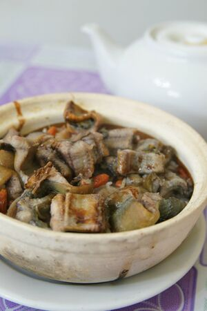 Clay pot rice Stock Photo
