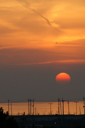 日本の夕焼け 写真素材