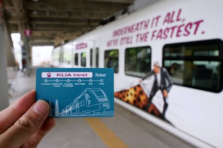 KLIA Ekspres card tickets Editorial