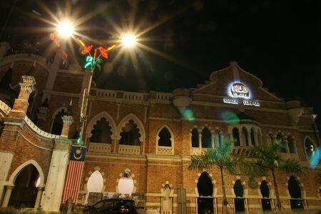 Night view of DBKL City Theater in Jalan Raja