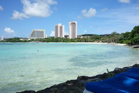 Guam Tumon beach Stock Photo