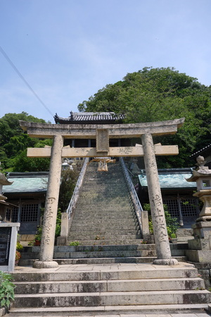 Nushima Hachiman shrine 版權商用圖片