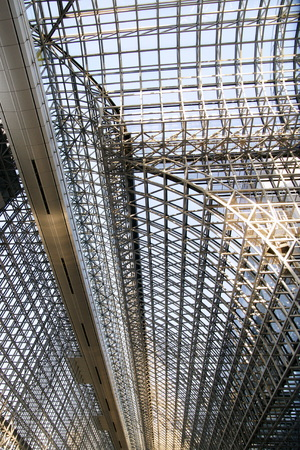 Kyoto station ceiling arches 報道画像