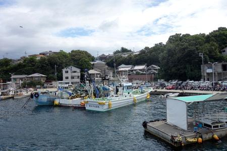 Japans fishing port 報道画像